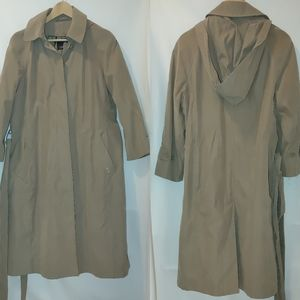 London Fog Trench Petite Covered Button Front